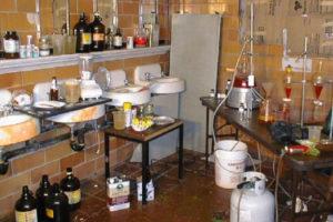 underground meth lab